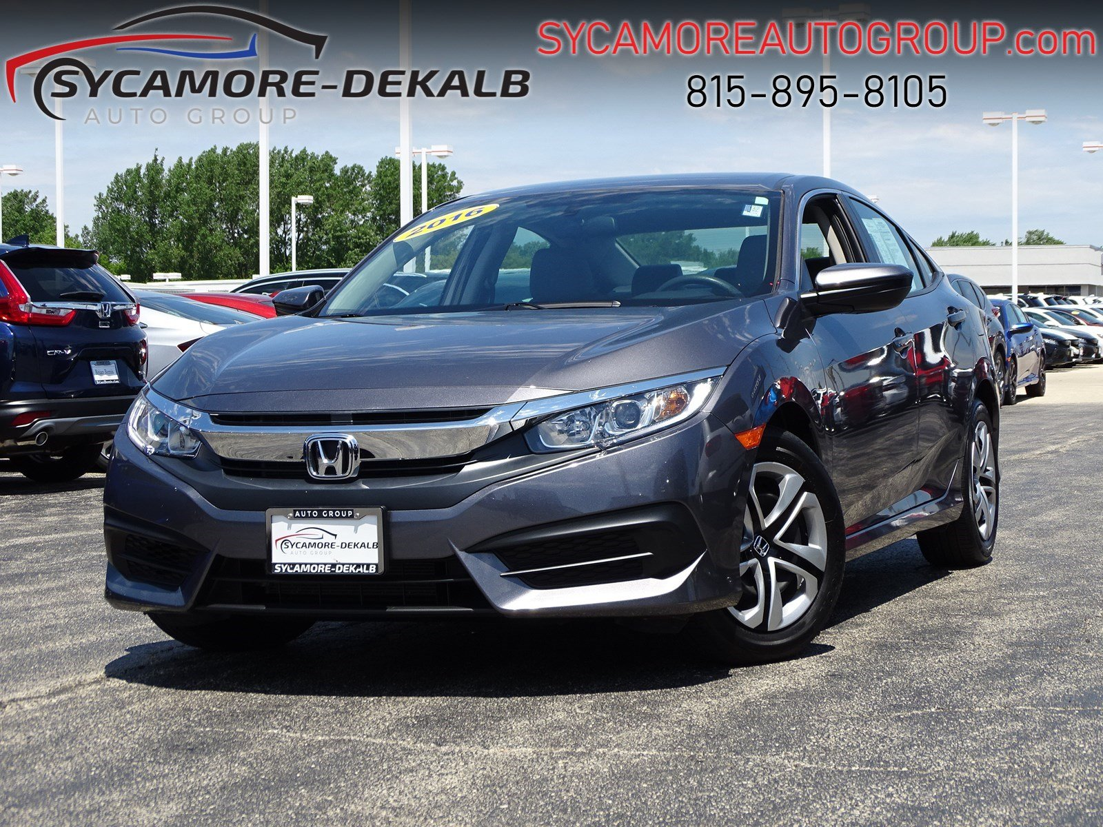 Certified Pre Owned Honda >> Certified Pre Owned 2016 Honda Civic Sedan Lx Fwd 4dr Car