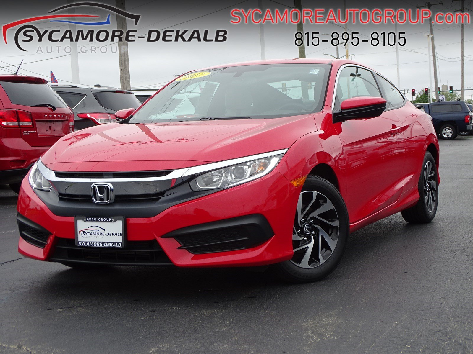 Pre-Owned 2017 Honda Civic Coupe LX FWD 2dr Car